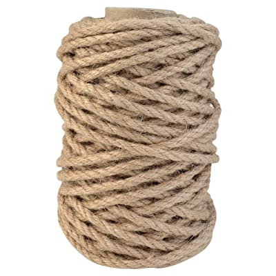 Topbuti 5mm Natural Jute Twine 100 Feet Braided Jute Rope, Crafting Twine String Thick Twine for DIY Artwork, Christmas Twine, Gift Wrapping, Gardening Applications : Office Products