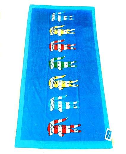 Lacoste Toalla Toalla de baño sauna Beach Towel turquesa azul
