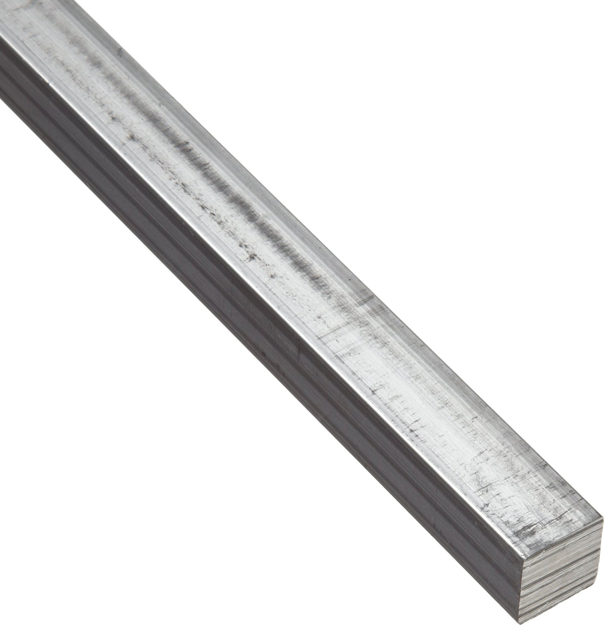 6063 Aluminum Rectangular Bar, Unpolished (Mill) Finish, T42 Temper, AMS QQ-A-200/9/ASTM B221, 3/4'' Thickness, 3/4'' Width, 72'' Length by Small Parts