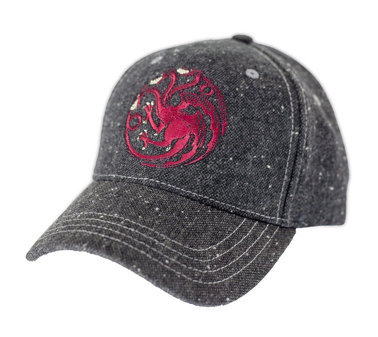 13e2988fd4b6e Amazon.com  Game of Thrones Flecked Fabric Premium Baseball Hat (Stark)   Clothing