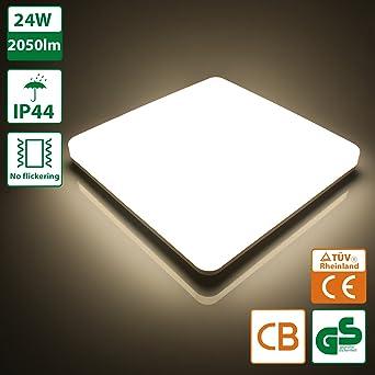 Oeegoo® LED Deckenleuchte Bad, 24W 2050lm Ersetzt 150W Glühbirne ...