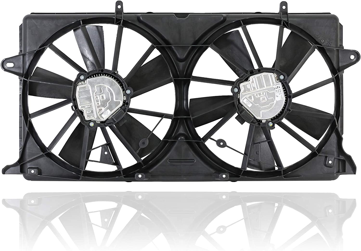Dual Radiator and Condenser Fan Assembly - Cooling Direct For/Fit 23123635 16-17 Cadillac Escalade/ESV 14-17 Chevrolet Silverado/GMC Sierra 1500 15-17 Suburban/Tahoe 16-17 GMC Yukon/XL/Denali