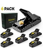 Mouse Trap, Mouse Traps That Work Mice Trap Outdoor Indoor Best Snap Traps for Mouse/Mice Safe and Reusable 6 Pack Quick Kill Mouse Traps