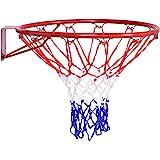 Goplus Basketball Rim, Basketball Net, Indoor Outdoor Hanging Basketball Goal with All Weather Net Wall Mounted…