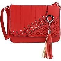 NFI Leatherette PU Handbag, Sling Bag with Adjustable Strap for Women and Girls College Office Bag, Stylish latest Designer Spacious Shoulder Tote Bag Purse