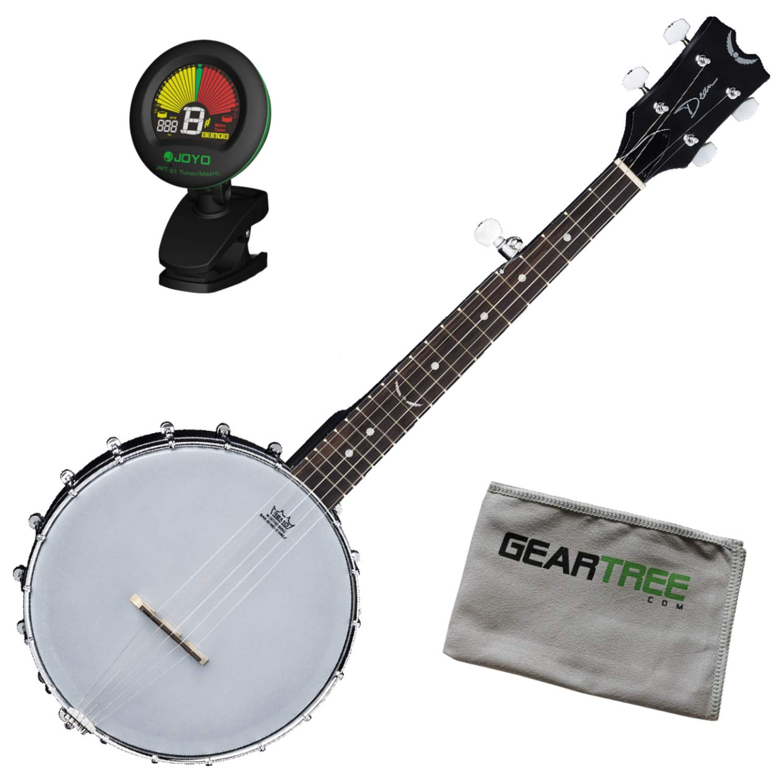 Dean BW MINI BKS Backwoods Mini Travel Banjo w/Tuner and Cloth Dean Guitars