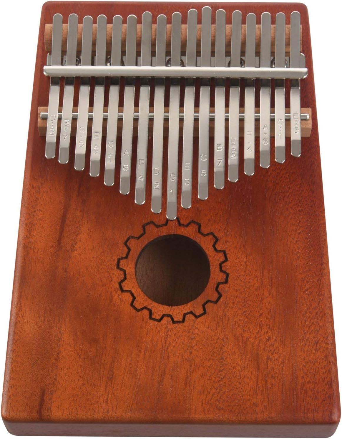 CUHAWUDBA Kalimba Thumb Piano 17 Teclas Con Madera De