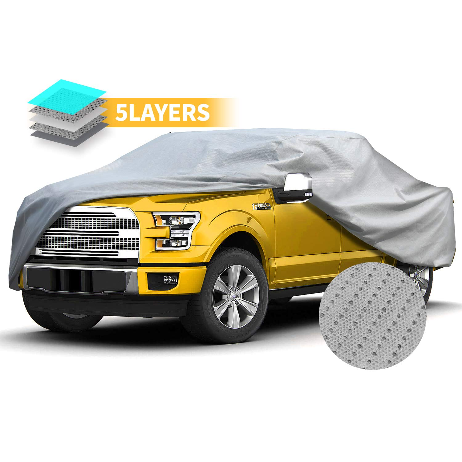 Truck Covers Full Exterior Car Cover UV Resistance Semi-Custom Car Cover Windproof Outdoor Auto Covers for 210 Truck
