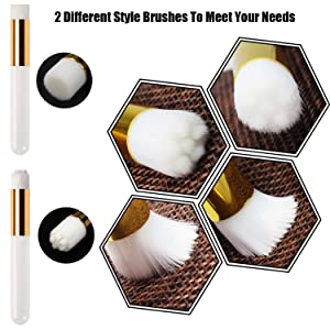 12 Pcs Eyelash Extensions Remover Brush Lash Cleaning Brushes Blackhead Washing Cleanser Tool Soft Cosmetic Shampoo Cleansing Brushes with a Dozen Mascara Brushes Wands,White (Color: White)