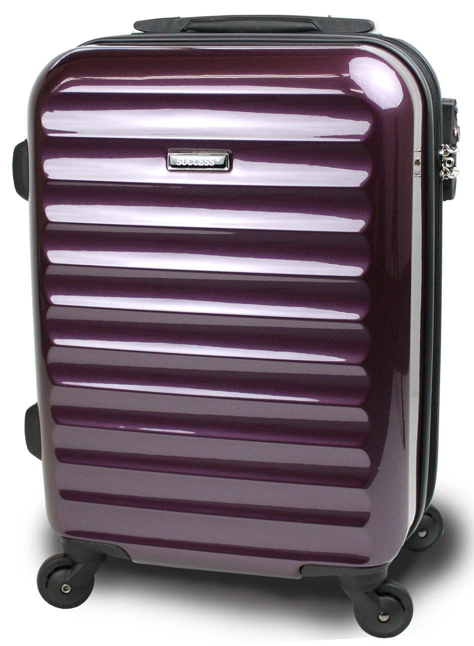【SUCCESS サクセス】 スーツケース 3サイズ( 大型  中型  小型 ) 超軽量 キャリーバッグ TSAロック 搭載 【 ヴィアーノ2016 ダブルファスナーモデル 】 鏡面ミラー加工 B00CLR8CM8 中型 67cm|ディープパープル ディープパープル 中型 67cm