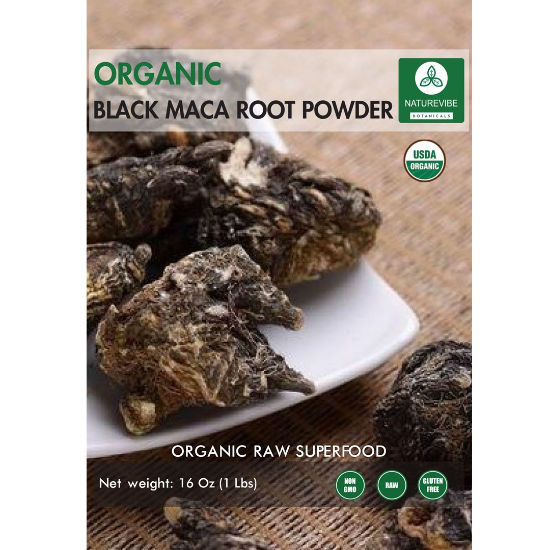 Amazon.com : Naturevibe Botanicals USDA Organic Black Maca Powder (1 lb) - Lepidium meyenii | Raw, Gluten-Free & Non-GMO | Increases Endurance | Improve ...