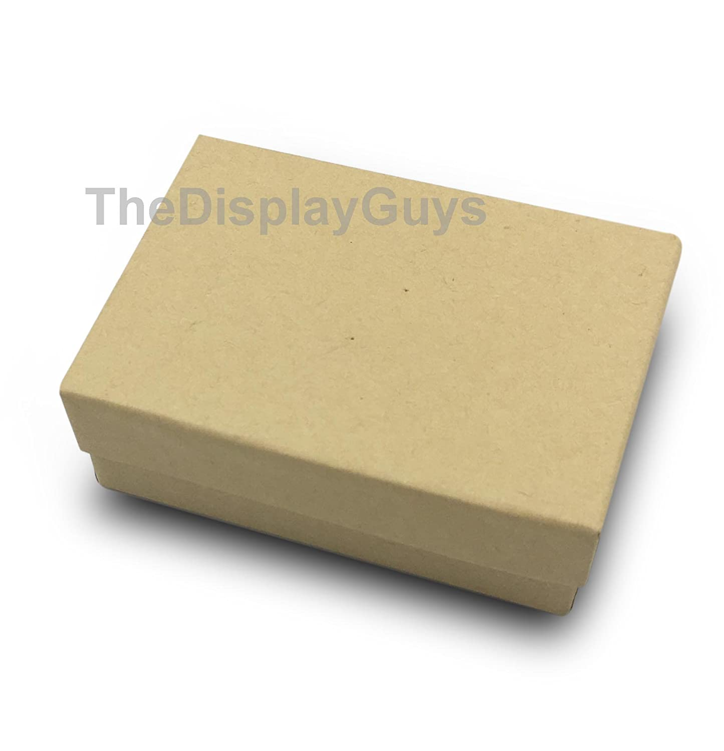 The Display Guys~ Pack of 100 Cotton Filled Cardboard Paper Kraft Jewelry Box Gift Case Kraft Brown 2 1//8x1 5//8x3//4 inches #11
