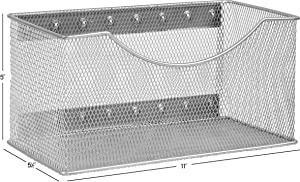 YBM HOME 2244vc Storage Basket, Silver
