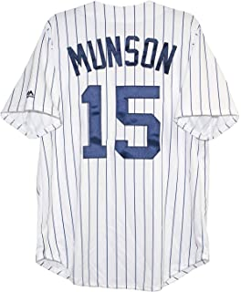 ef08a6376 Majestic Athletic Men s New York Yankees Thurman Munson Cooperstown Home  Jersey Medium