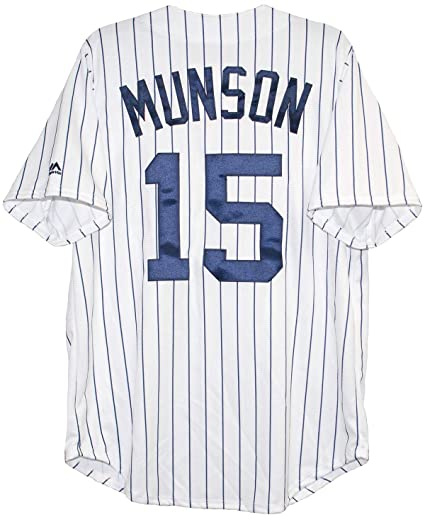 f9a140c0d Image Unavailable. Image not available for. Color  Majestic Athletic Men s New  York Yankees Thurman Munson Cooperstown Home Jersey Medium