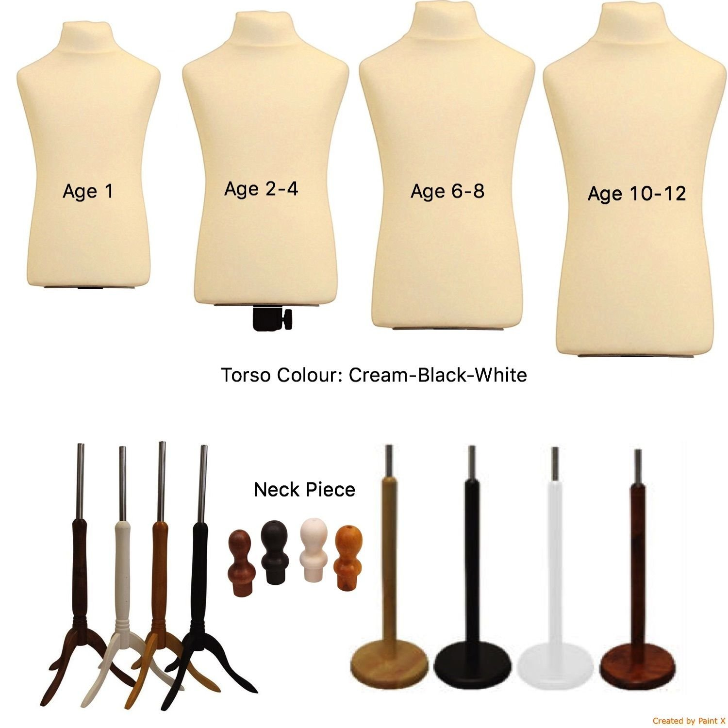 CHILDS AGE 2//4 Dressmaking Mannequin Tailors Bust Display Dummy Dressmakers