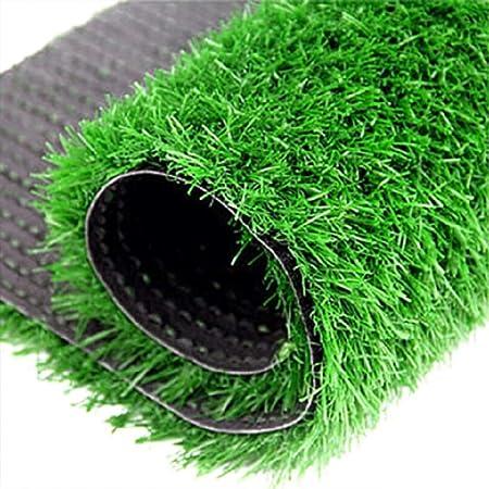 Artificial hierba césped Césped artificial sintético de primera calidad, césped artificial falso al aire libre Césped de césped natural sintético de jardín de alta densidad natural verde para perros m: Amazon.es: Hogar