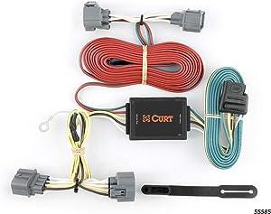 CURT 55585 Vehicle-Side Custom 4-Pin Trailer Wiring Harness for Select Honda Ridgeline