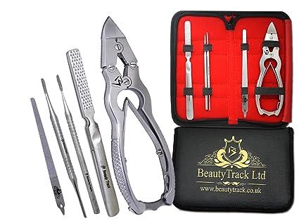 BeautyTrack Profesionales de Podologia Unas Cortadores De Puntaen Voladizo - 16cm de Acero Inoxidable Alemán Cortadores