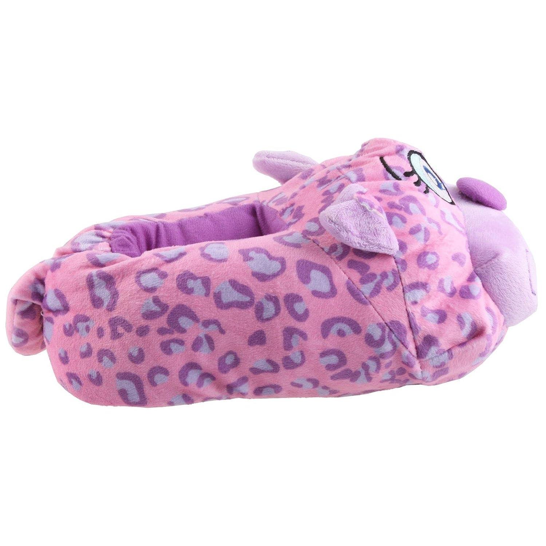 SAMs Katze Heizi Tier Hausschuhe Pantoffel Puschen Schlappen Kuscheltier Plüsch Damen Rosa 35-39, Stubentigerrosa, Größe 37-39
