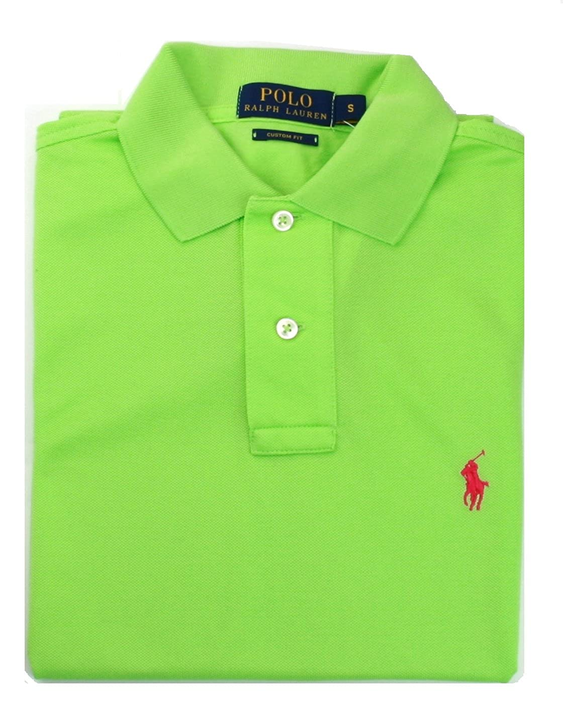 Polo Ralph Bright Rrp Mens Green Small Shirt Lauren Custom Fit hrBtdsQCx