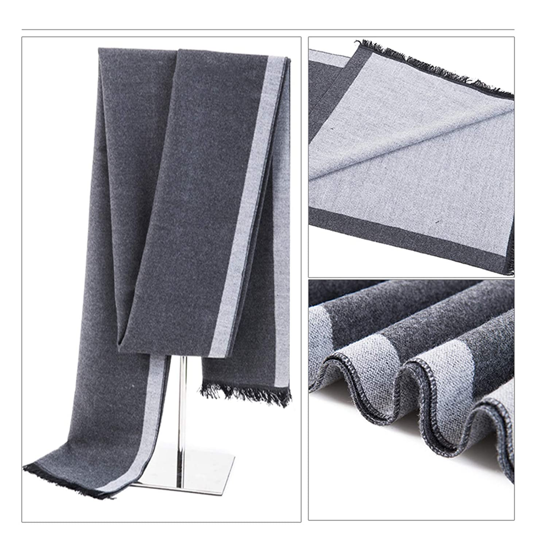 72 x 12 inch Cozy Long Soft Cotton Lattice Scarf for Men Gnzoe Mens Scarf Winter Warm