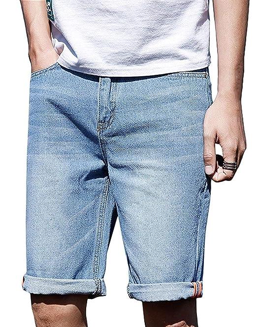 Pantalones Vaqueros Azules Cielo De Los Hombres Slim Fit ...