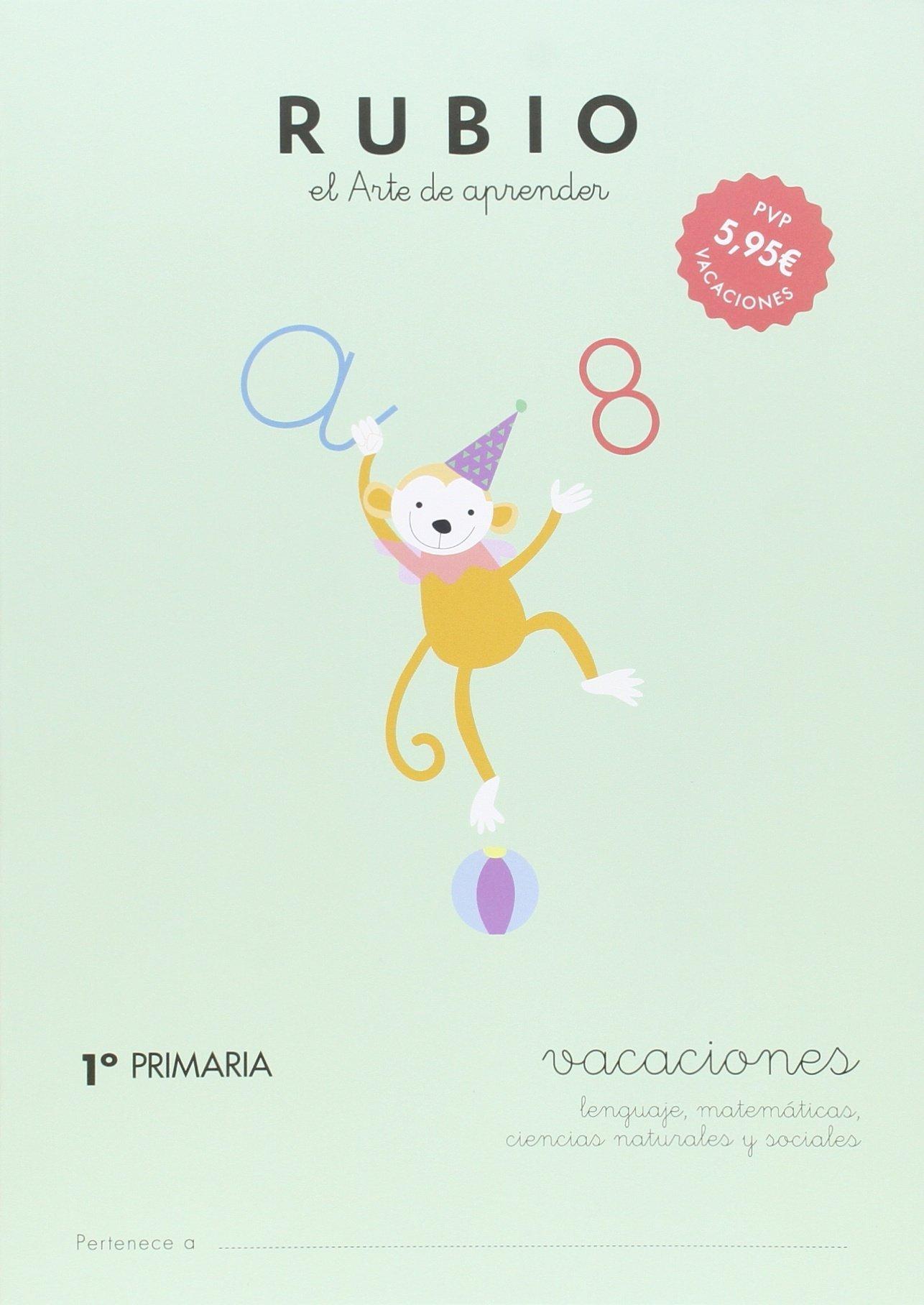 RUBIO VACACIONES - 1º PRIMARIA - 9788415971610 Vacaciones RUBIO ...