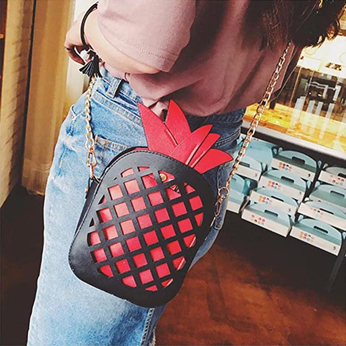 Amazon.com: JAGENIE Women Cute Fruit Pineapple Handbag ...