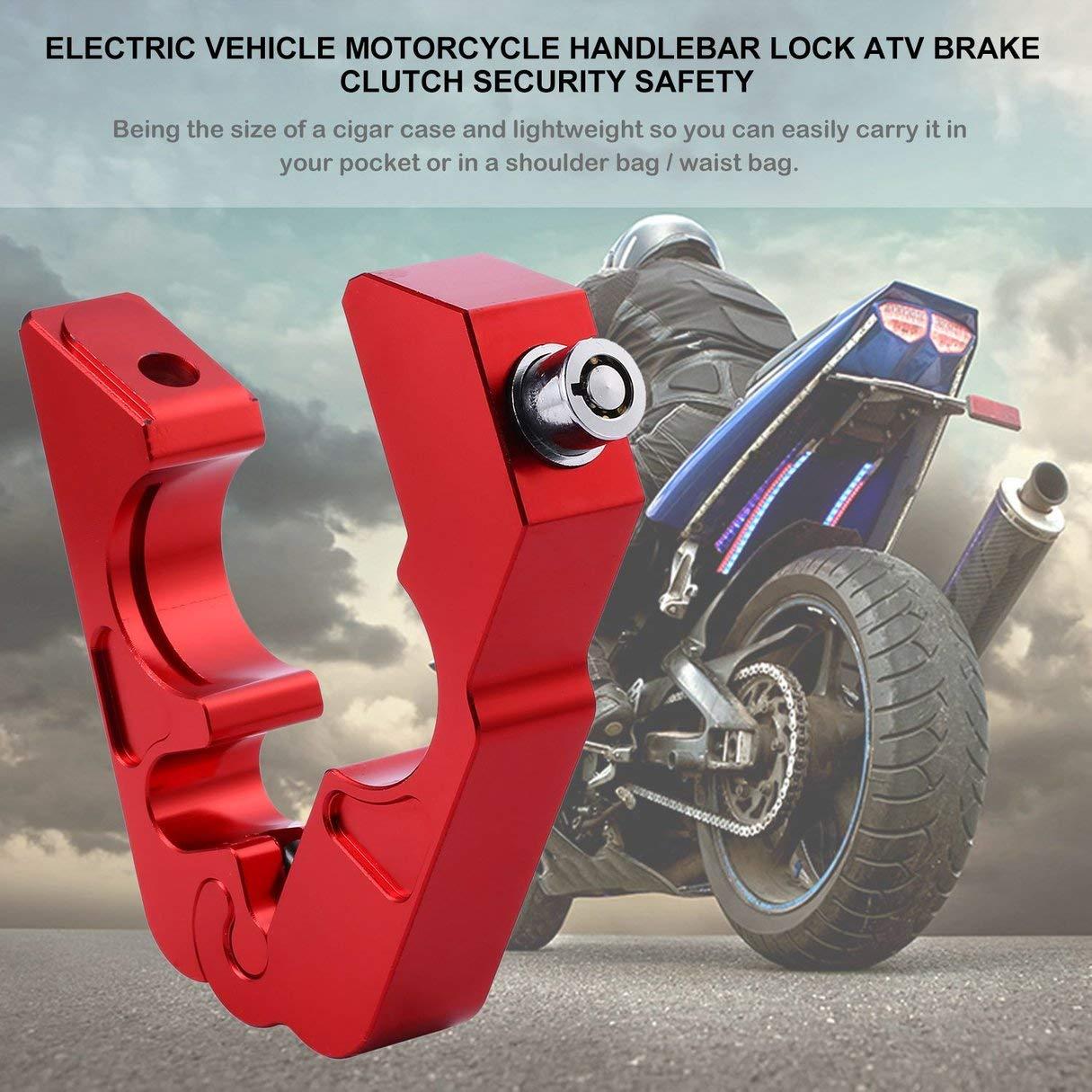 Vehículo eléctrico moto scooter cerrojo manillar de bicicleta montaña freno embrague seguridad accesorios de seguridad cerrojo de protección antirrobo: ...