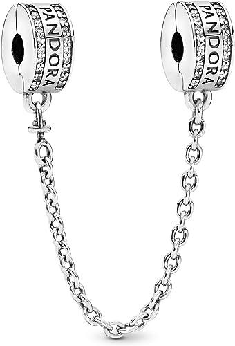 Pandora 792057CZ Chaîne de sécurité avec logo Pandora