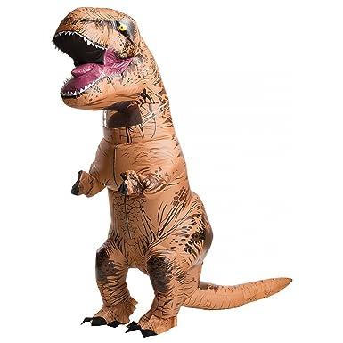 dcc95864b0b9e Amazon.com  Inflatable T-Rex Costume - Standard - Chest Size 44  Clothing