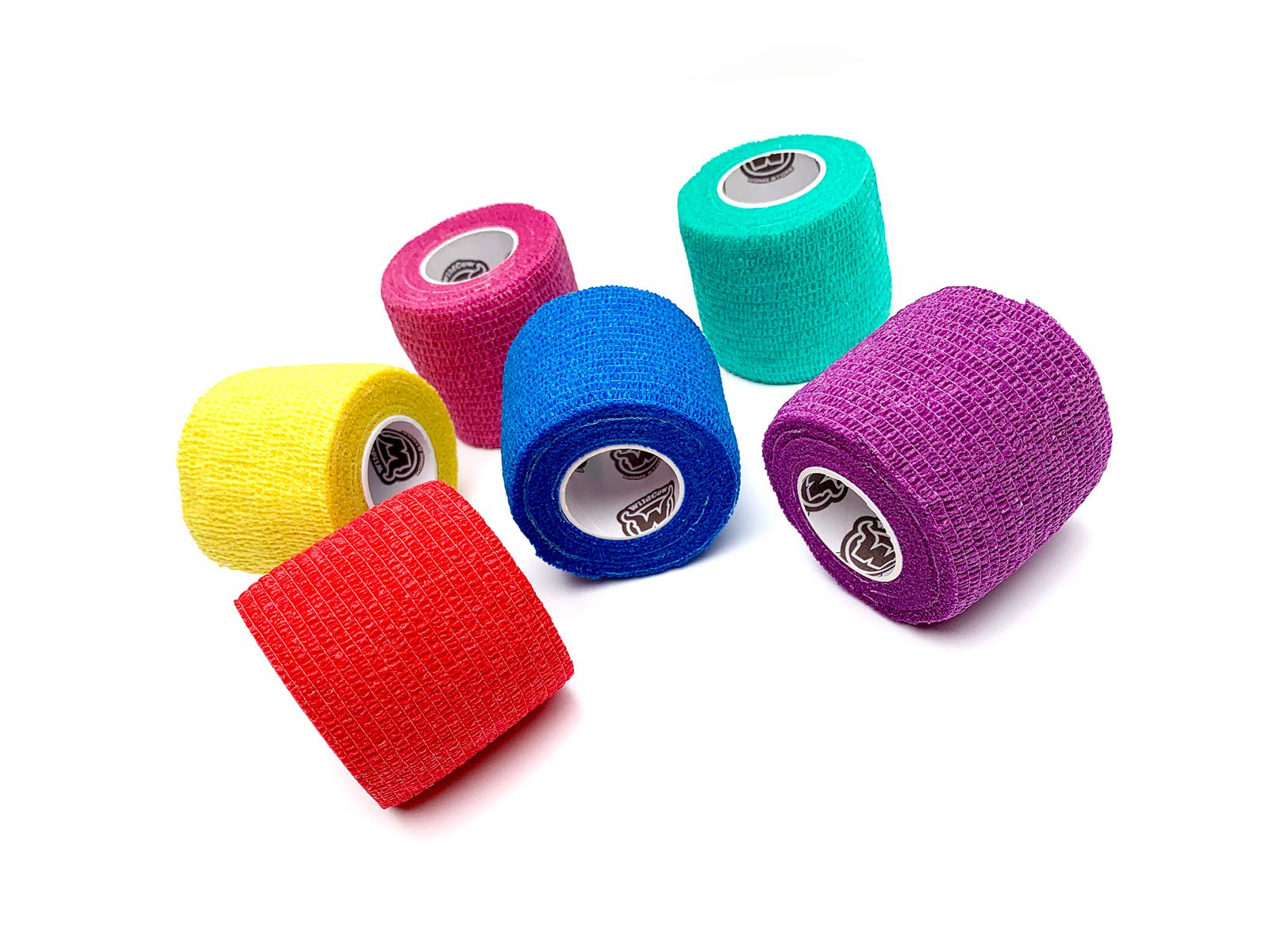 WildCow Vet Wrap 2'' Bulk Tape Dog Bandages, 6 Color Pack Pet Leg Raps by WildCow