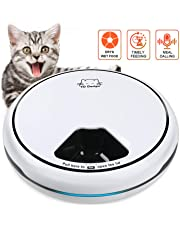 TDYNASTY DESIGN Pet Feeder,Automatic Cat Feeder | Timed Programmable Auto Pet Dog Food Dispenser Feeder for Kitten Puppy - Portion Control Up to 5 Meals/Day,Voice Recording,Battery and Plug-in Power