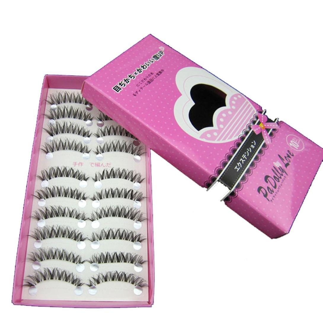 Chartsea Japanese Style Black 10 Pairs Eyelashes (Black) by Chartsea (Image #2)