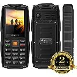2017 VKworld Stone V3 Telefono Cellulare, impermeabile IP68, Antipolvere, Indistruttibile, per Anziani Con Tasti grandi 8GB Memoria Extra (Batteria Da 3000mAh,Tri Sim, Banca Di Potenza,2MP Telecamera)