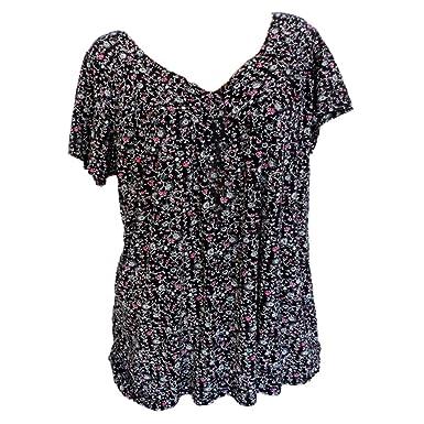 fc7e9061385c0 Simayixx Women Shirts Plus Size Summer Loose Linen Short Sleeve T Shirt  Vintage Tunic Tops Blouse