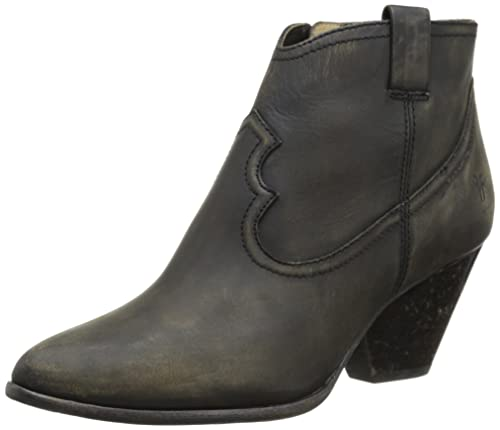 058aef1432f Frye Women's Reina Bootie, Black Stone Washed Leather, 5.5 M US ...
