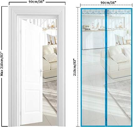 Noir Rideau Magn/étique pour Portes 90 x 210 CM TSYMO Moustiquaire Aimant/ée Porte Fenetre