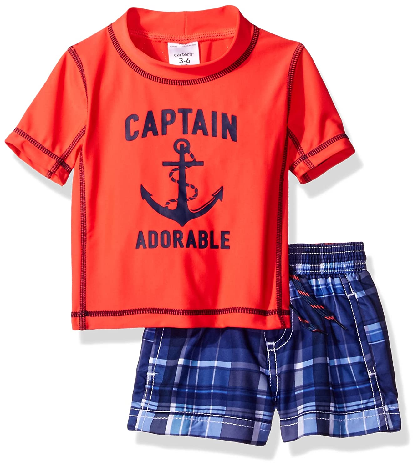 Carter's Baby Boys' Short Sleeve Rash Guard Set SC17B92-2
