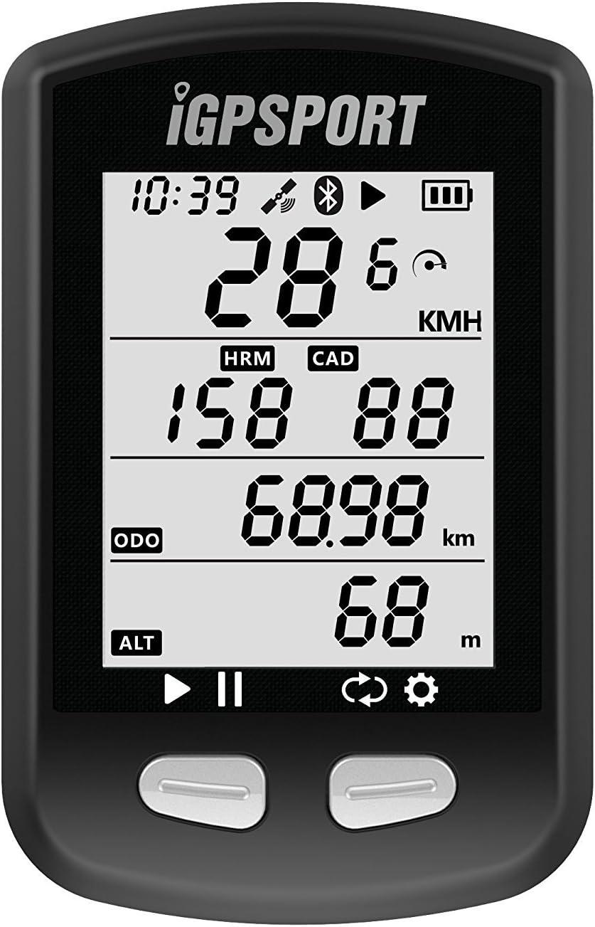 Ordenador de bicicleta GPS iGPSPORT iGS10 inalámbrico ANT+ compatible con sensor de velocidad de cadencia (no incluye sensor)