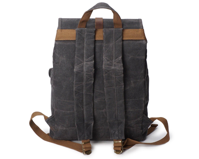 Shengjuanfeng Mens Shoulder Bag Oil Wax Canvas Outdoor Sports Travel Bag Waterproof Travel Backpack Color : Chrome, Size : M