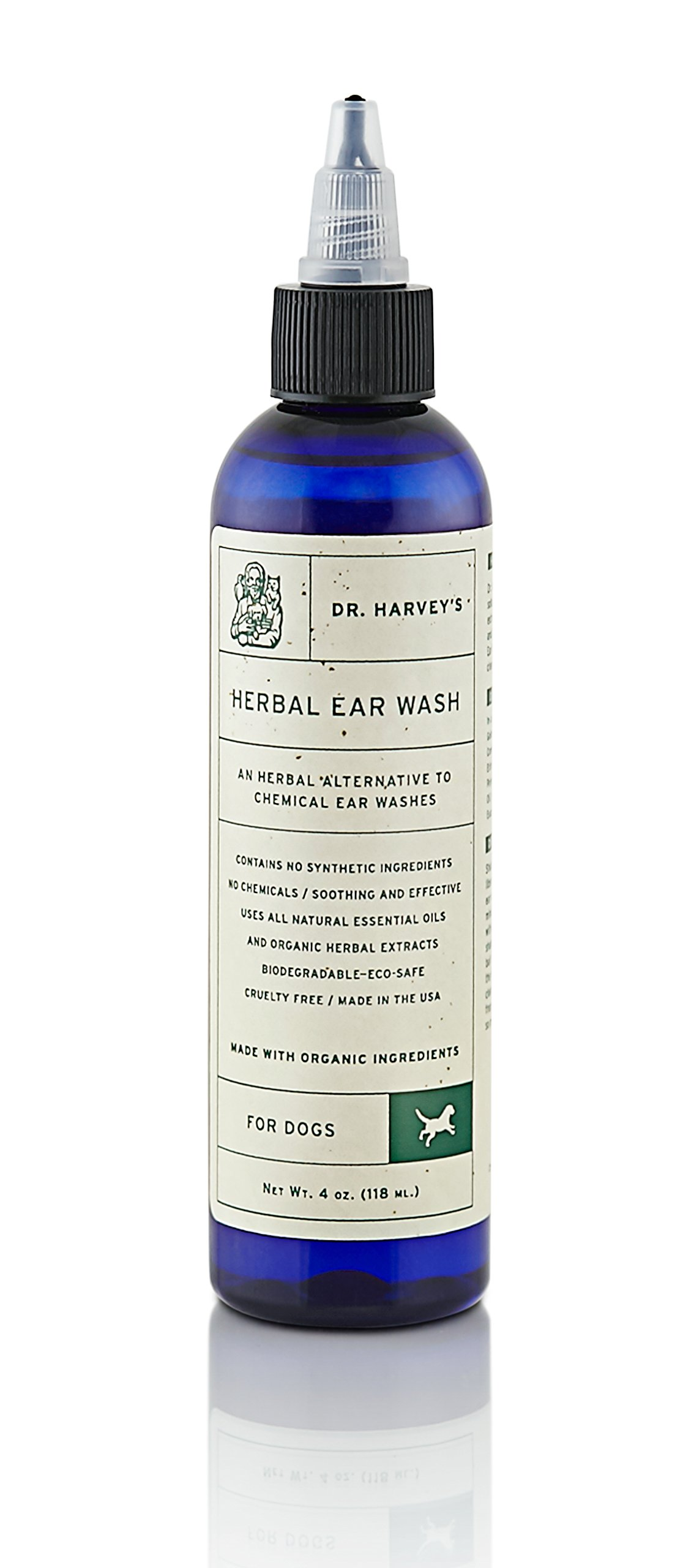 Dr. Harvey's Herbal Ear Wash for Dogs (4 oz. bottle)