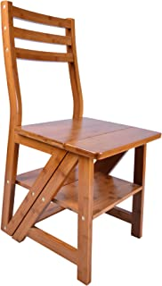 Natural Bamboo Multi-functional Four-Step Library Ladder Chair  sc 1 st  Amazon.com & Amazon.com: Carolina Chair and Table Benjamin Library Ladder Chair ... islam-shia.org