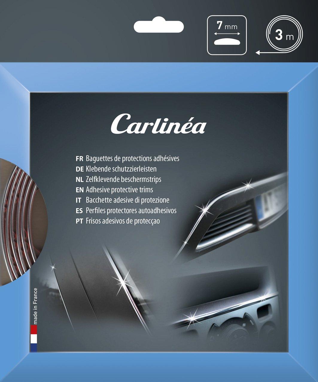Carlinea 483687 baqueta protección cromado adhesiva, 7 mm x 3 m: Amazon.es: Coche y moto