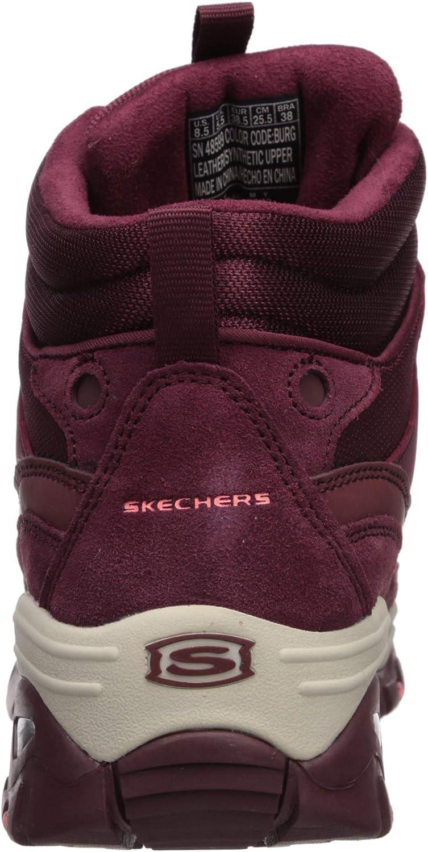 Skechers Energy, Botines para Mujer Burgundy Leather Mesh Burgundy iI33E