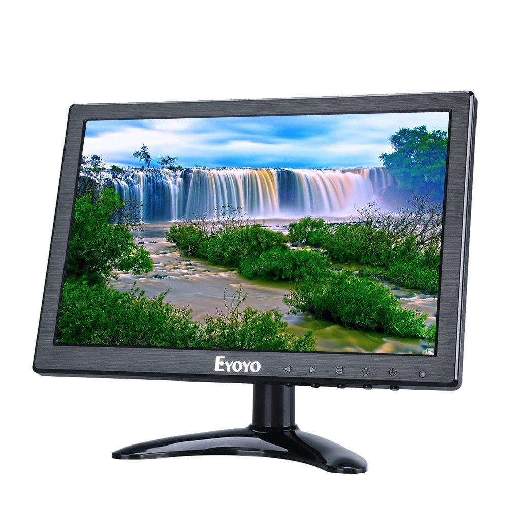 Eyoyo 10 inch HDMI IPS Monitor 1920x1200 IPS LCD Screen Display with BNC VGA AV Output for CCTV DVD PC Laptop DVR Built-in Loudspeakers by Eyoyo