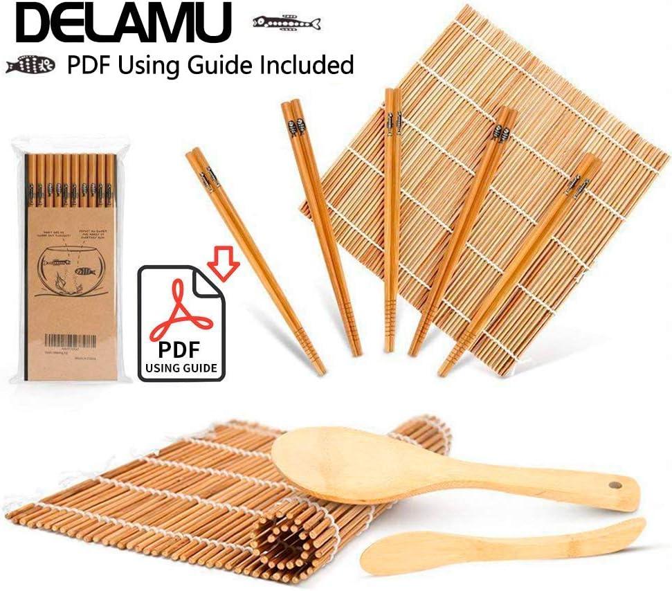 轻松做sushi,天然竹寿司制作工具全套装(含5双筷子)