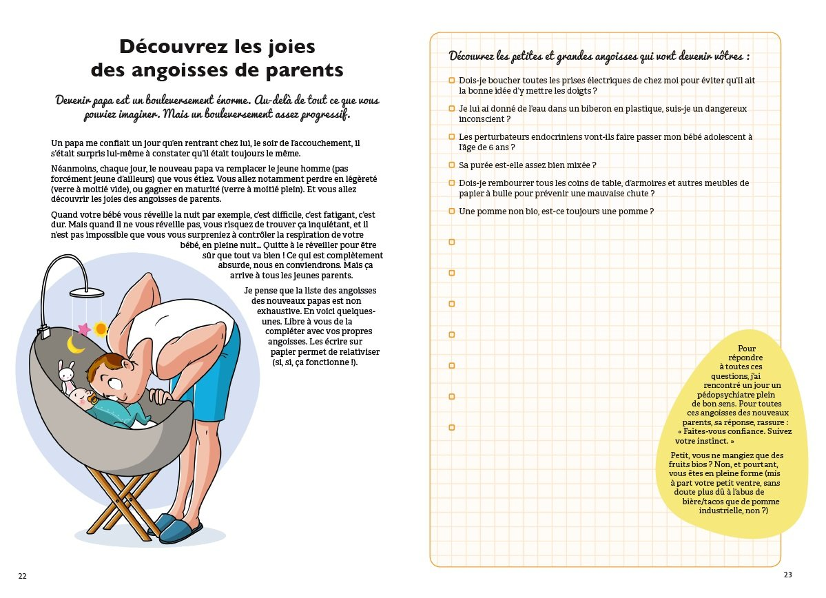 Amazon.fr - le cahier Jeune papa - Conseils, quiz, idées d'activités : tout  pour être un papa au top - Benjamin Muller - Livres