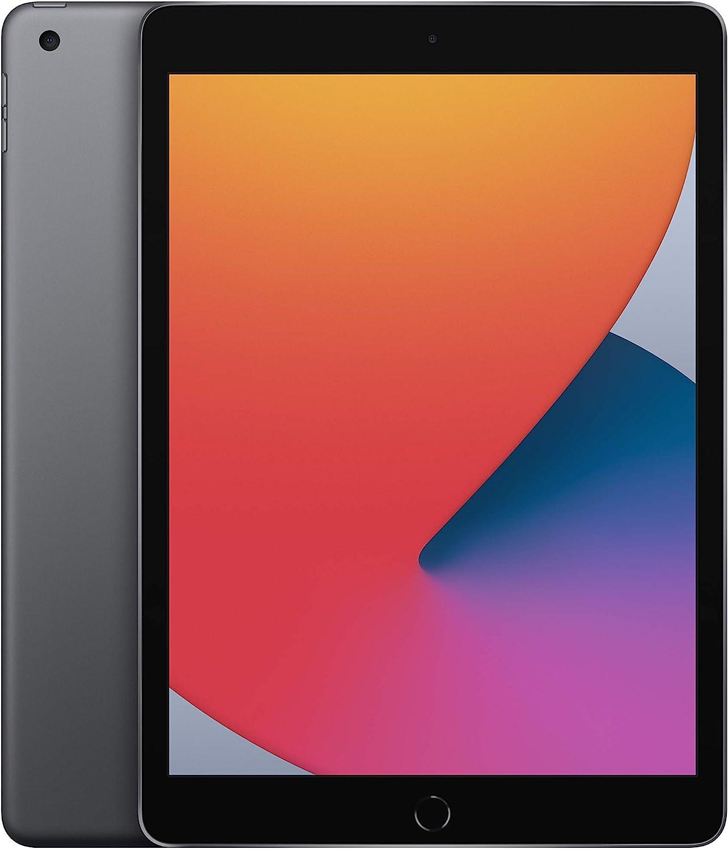 New Apple iPad (10.2-inch, Wi-Fi, 128GB) - Space Gray (Latest Model, 8th Generation) (Renewed)